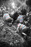 Brave climbers