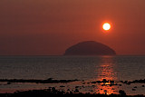 Ailsa Craig at Sunset