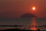 Ailsa Craig at Sunset