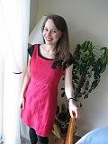 Red Skirt Smiling